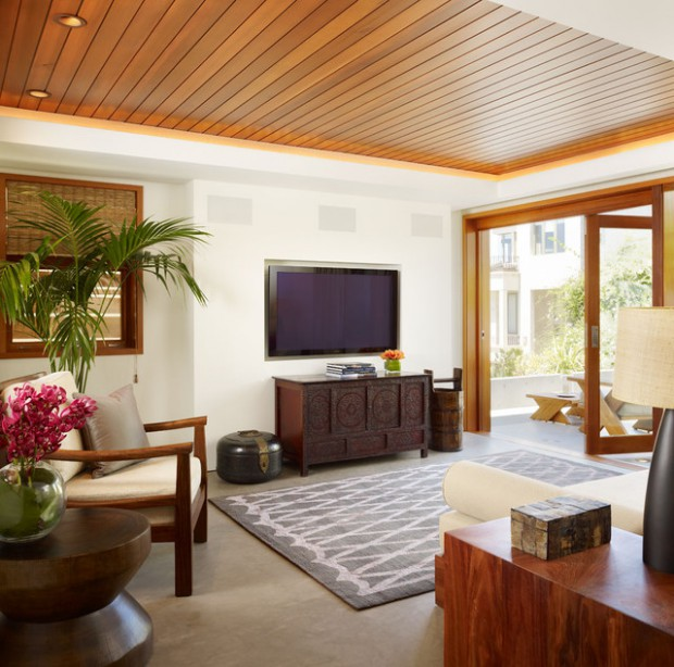 Marvelous 19 Stunning Wood Ceiling Design Ideas To Spice Up Your Living Room