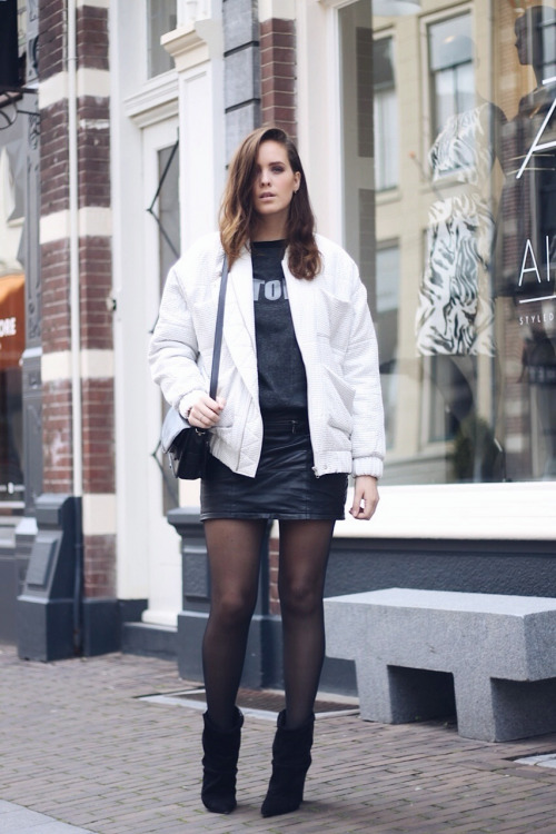 22 Ways To Wear Black Tights This Season