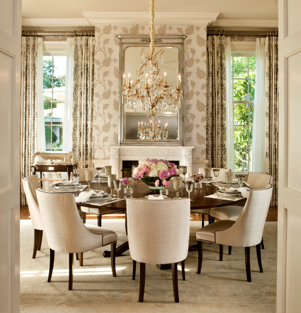 Elegant Tableware For Dining Rooms With Style: 24 Elegant Round Dining Table Design Ideas
