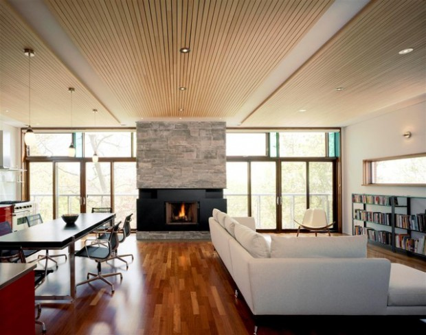 19 Stunning Wood Ceiling Design Ideas To Spice Up Your Living Room