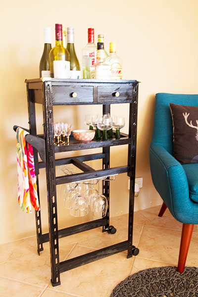 19 Chic DIY Bar Cart Design and Makeover Ideas