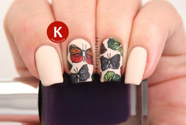 18 Amazing Nail Art Ideas Created with Pink, Gray and Brown Nail Polishes