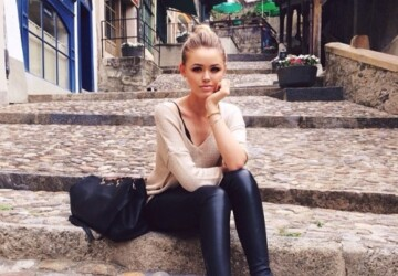20 Outfits That'll Make You Want a Pair of Leather Pants This Fall - Stylish, style, pants, Outfit ideas, outfit idea, outfit, leather pants outfit ideas, leather pants, leather leggings, leather, fashion, fall outfits, fall outfit, Fall