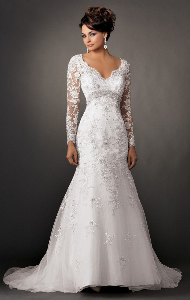 18 Gorgeous Long Sleeves Wedding Gowns for Fall and Winter