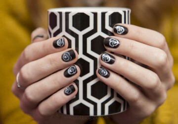 20 Beautiful Black and White Nail Art Ideas - simple nail art, nail art ideas, black and white nail art, black and white