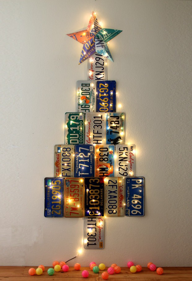 16 Unique and Unconventional DIY Christmas Tree Ideas
