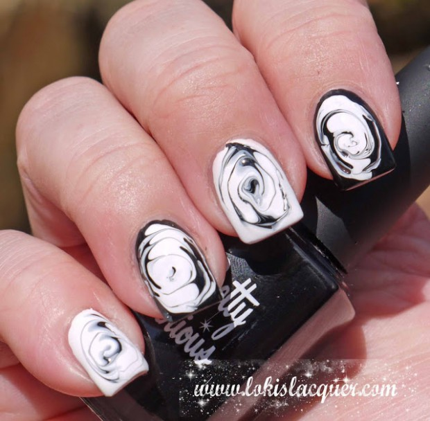 20 Beautiful Black and White Nail Art Ideas