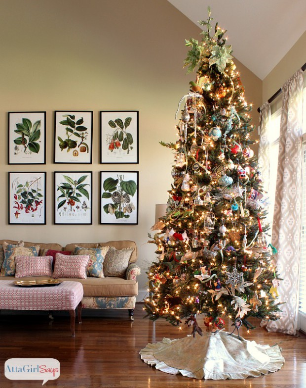 Christmas Tree Decorating Styles : Charming christmas tree decorating ideas to try this