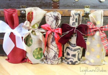 18 Unique Ways to Gift Wrap Wine This Holiday Season - wraps, wrap, wine wrape, Projects, project, holidays, holiday, gifts, gift wrap, gift, diy project, diy, craft