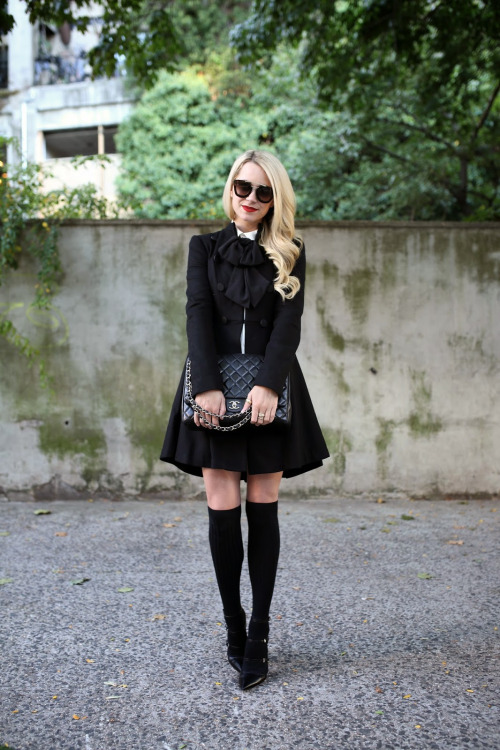 17 Stylish Outfit Ideas for How To Wear Thigh High Socks