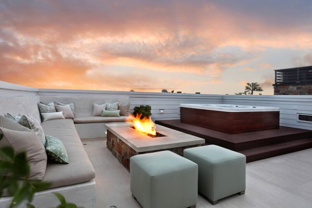 20 rooftop terrace fireplace and fire pit design ideas to for Terrace roof ideas