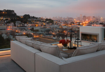 20 Rooftop Terrace Fireplace And Fire Pit Design Ideas To Relax And Entertain In Style - rooftop terrace, rooftop fireplace, rooftop fire pit, rooftop design, rooftoop, fireplace, fire pit