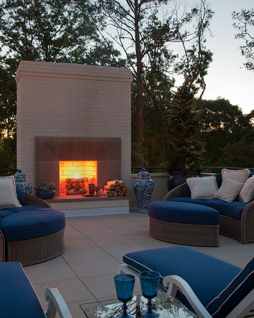 20 Rooftop Terrace Fireplace And Fire Pit Design Ideas To Relax And Entertain In Style
