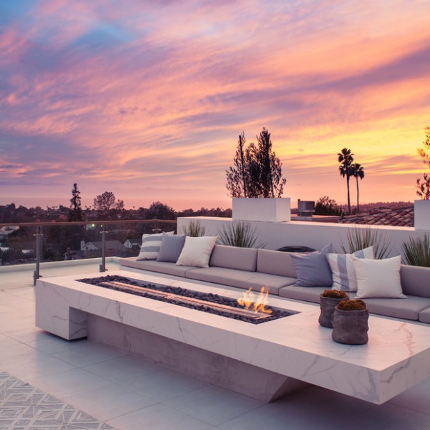20 Rooftop Terrace Fireplace And Fire Pit Design Ideas To Relax And ...
