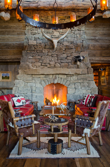 rustic fireplace living room (14)