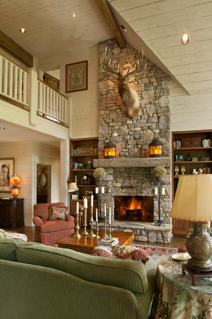 rustic fireplace living room (16)