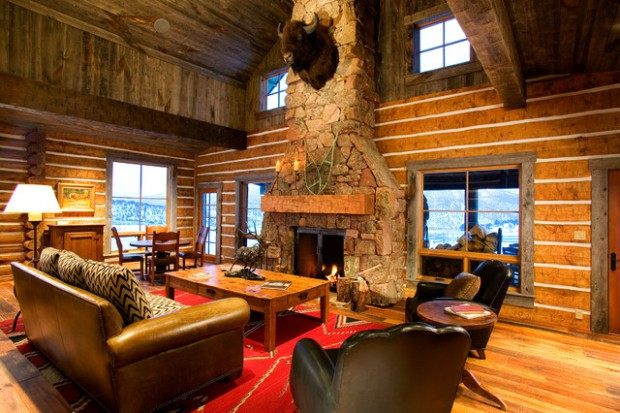 rustic fireplace living room (19)