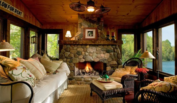 19 River Stone Fireplaces For Nature Inspired Home