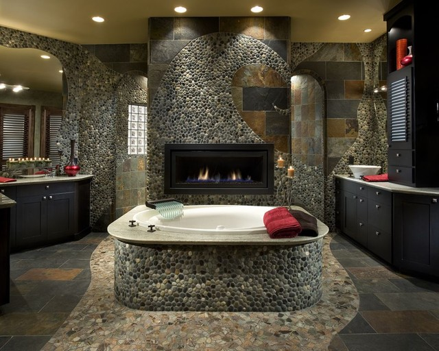 How To Use River Rock Tile In Bathroom Design 19 Great