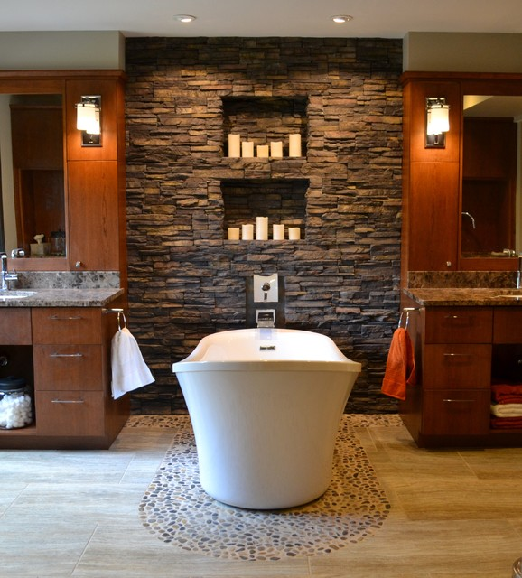 Etonnant How To Use River Rock Tile In Bathroom Design: 19 Great Ideas