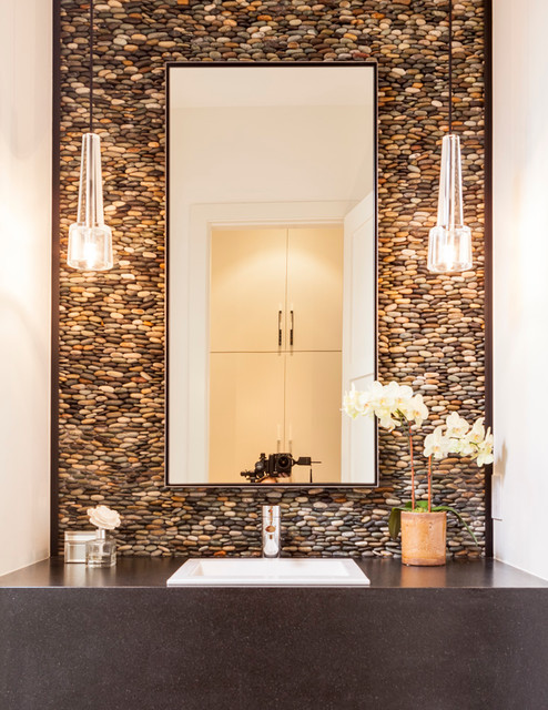 Ordinaire How To Use River Rock Tile In Bathroom Design: 19 Great Ideas