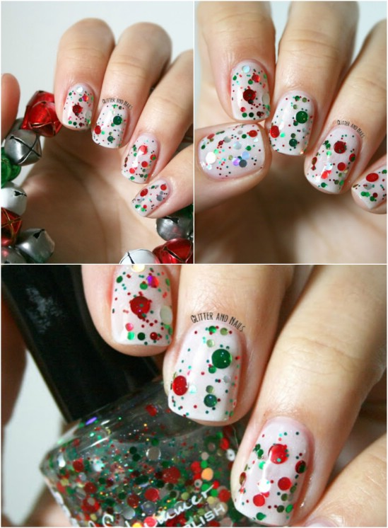 16 Creative And Easy Diy Christmas Nail Art Ideas And Tutorials