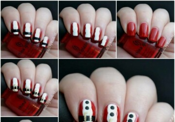 16 Creative and Easy DIY Christmas Nail Art Ideas and Tutorials - nail art tutorials, nail art ideas, diy nails, diy Christmas nails, Christmas nails, Christmas nail tutorials, Christmas nail design
