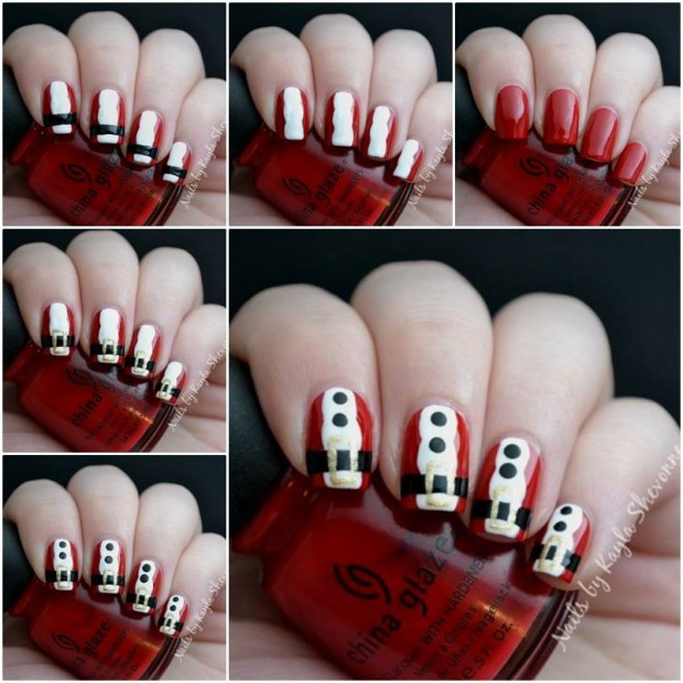 16 Creative And Easy DIY Christmas Nail Art Ideas And