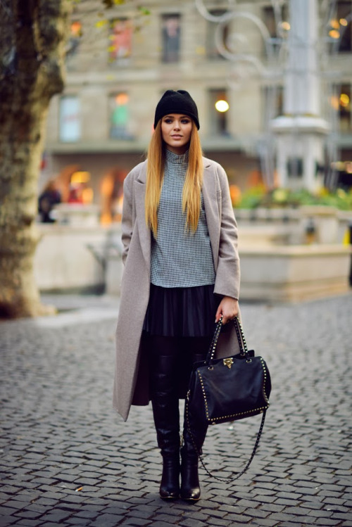 22 Stylish Ways How to Wear Leather Skirts This Winter - Style ...