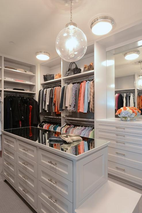 mirror-top-closet-island-with-built-in-bench