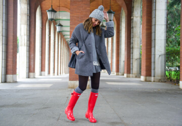 16 Cute Ways To Wear Rain Boots - Stylish, style, snowy, snow, rainy day outfits, rainy day outfit ideas, rainy day, rainy, rain boots, rain, outfits, Outfit ideas, outfit idea, outfit, fashion, boots