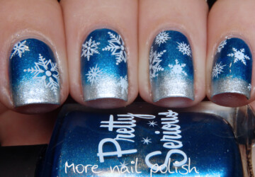 20 Gorgeous Winter Inspired Nail Art Ideas - winter nail design, winter nail art, nail art ideas