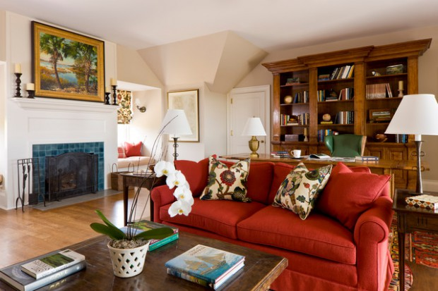 How To Furnish A Living Room With A Red Sofa: 16 Stylish Ideas