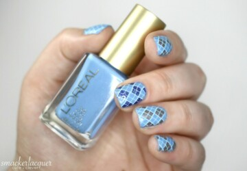 Winter Blue: 16 Lovely Nail Art Ideas - winter nail art, nail design, nail art ideas, blue nail polish, blue nail art ideas
