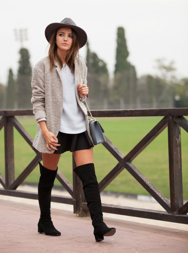 20 Stylish Ways To Wear Suede Over The Knee Boots