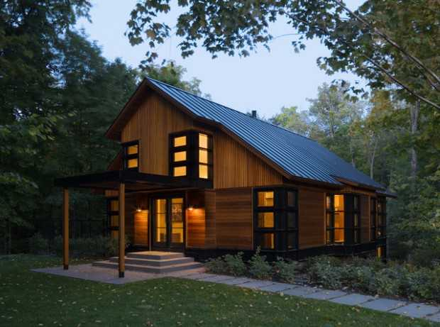 20 Amazing Wooden Mountain Cabin Exterior Designs Style