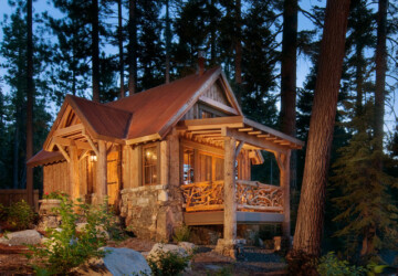 20 Amazing Wooden Mountain Cabin Exterior Designs - rustic mountain house, mountain cabin exterior, mountain cabin, exterior design, Cozy Cabins