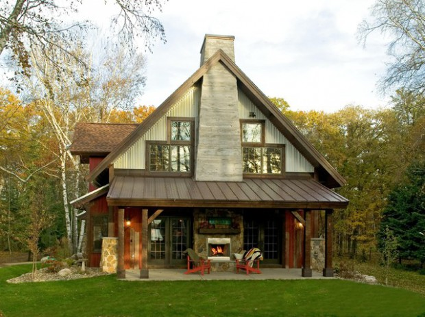 20 amazing wooden mountain cabin exterior designs style for Amazing home exteriors