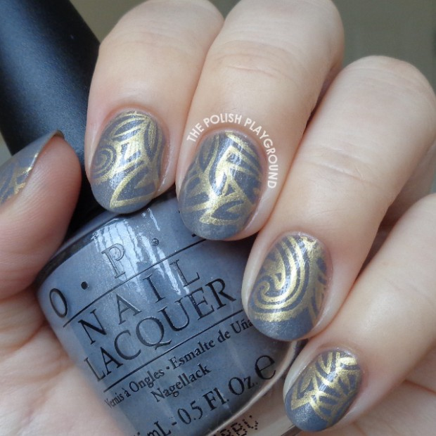 Grey and Gold   Perfect Combination for Gorgeous Nail Art