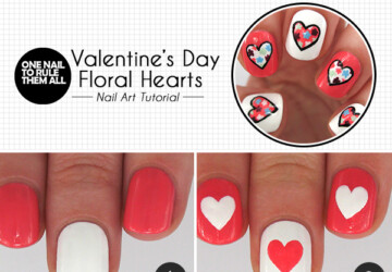 15 DIY Tutorials and Ideas for Cute Valentine's Day Nails - valentine's day nail tutorial, Valentine's day nail art, romantic nails, nail art tutorials, nail art ideas, diy Valentine's day, cute nail art