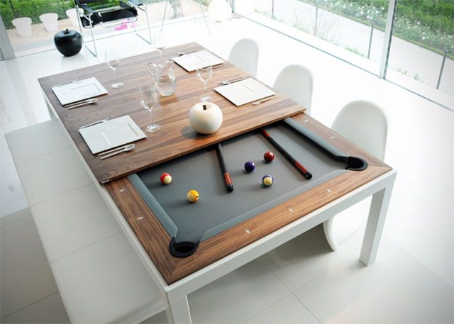 Have Dinner and Play Pool at the Same Time!