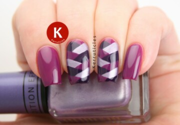 20 Lovely Nail Art ideas- Three Shades of Purple on Your Nails - purple nail art ideas, purple, nail designs, nail art ideas