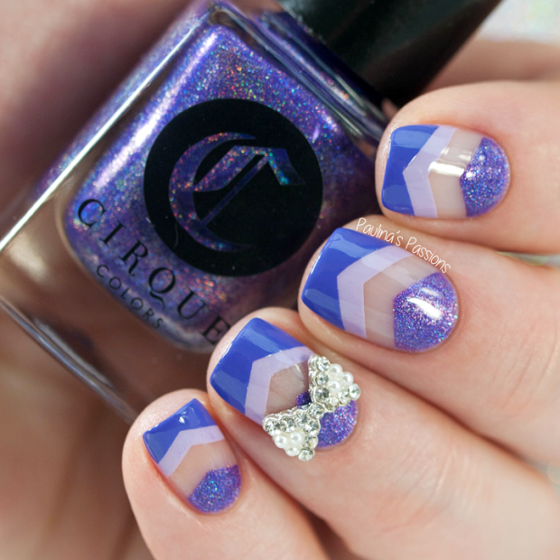 20 Lovely Nail Art ideas  Three Shades of Purple on Your Nails