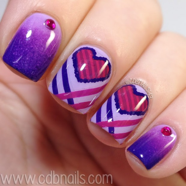 20 Lovely Nail Art ideas- Three Shades of Purple on Your Nails ...