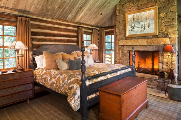 with rustic log bedroom by inspired ideas house luxury home design cute right your cabins the idea and cabin