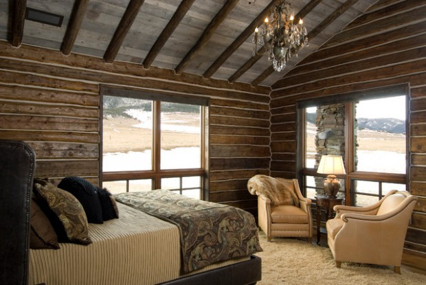 18 cozy cabin bedroom design ideas style motivation for Wooden interior design for bedroom