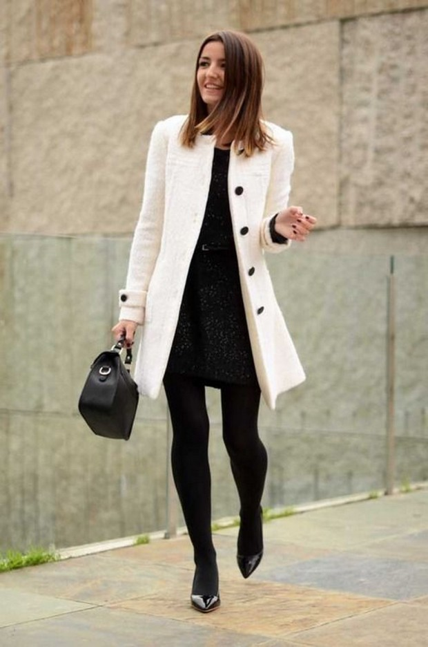 18 Cool Ways To Wear A White Coat - Style Motivation