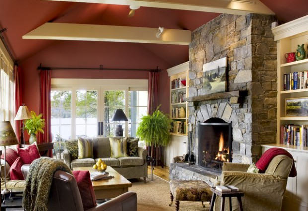 17 divine stone wall ideas for your living room home for Living room 10 x 15