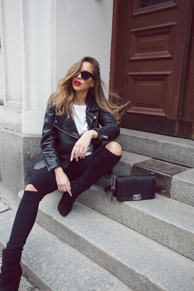 18 Edgy Ways To Style Leather Jacket