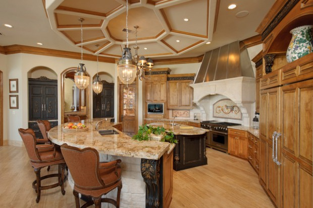 20 Divine Curved Kitchen Designs